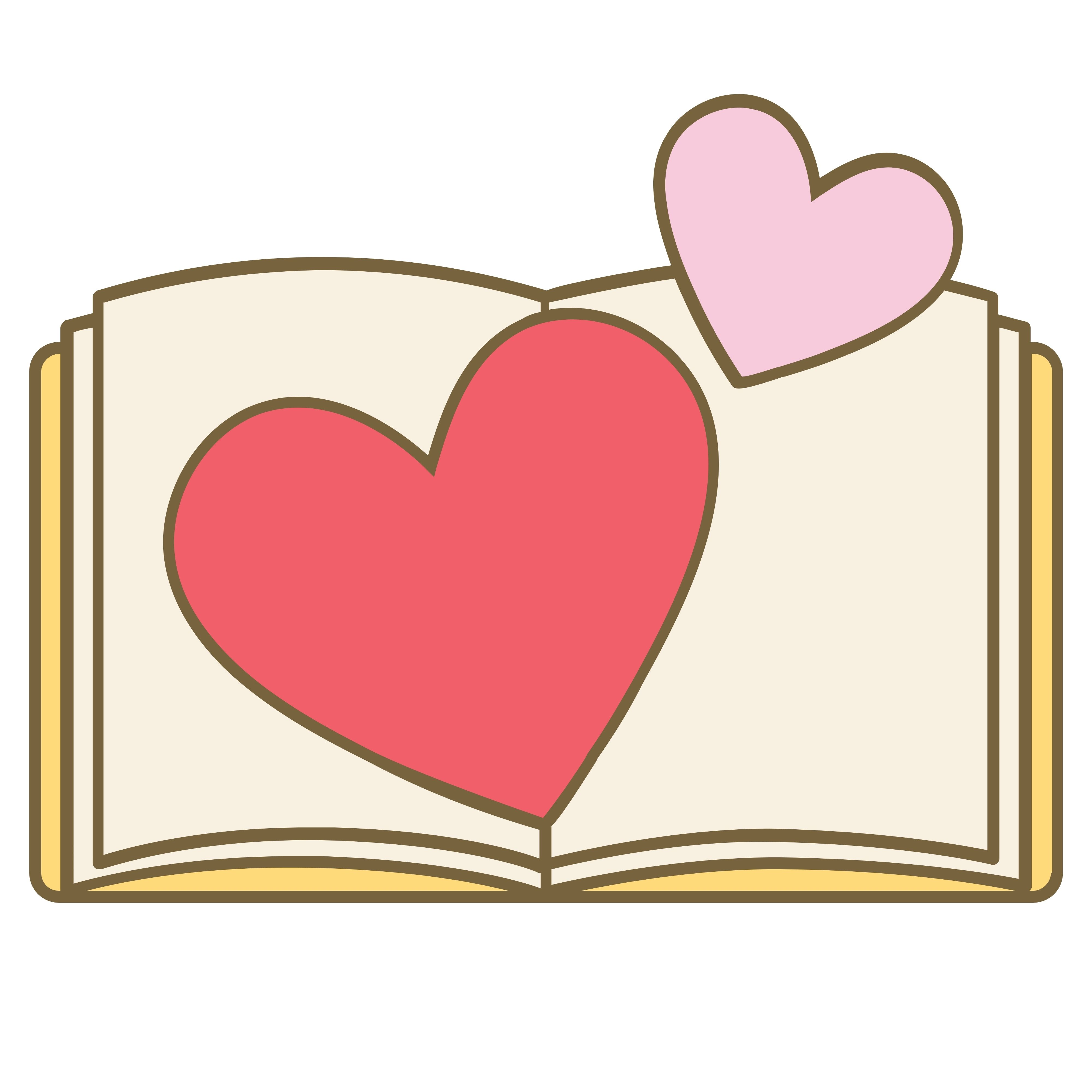 Book and Hearts