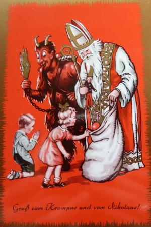 Krampus and St. Nicholas